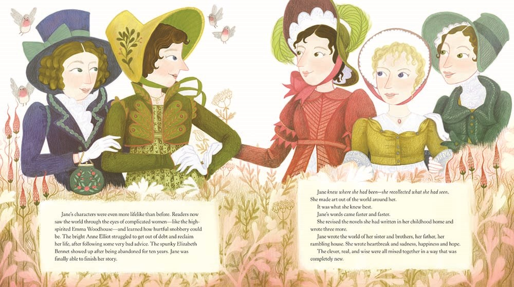 A Most Clever Girl Illustration Jane Austen Characters